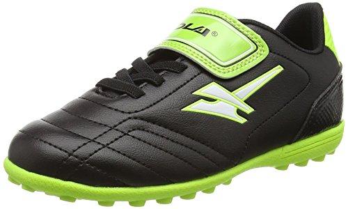 Gola Magnaz Velcro VX, Botas de Fútbol Para Niños Negro (Black/Lime)