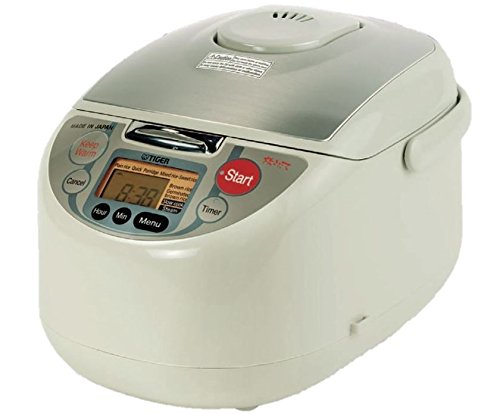 Cheap Tiger JAH-T18U-TM 10-Cup (Uncooked) Micom Rice Cooker and Warmer with Steam Basket, White
