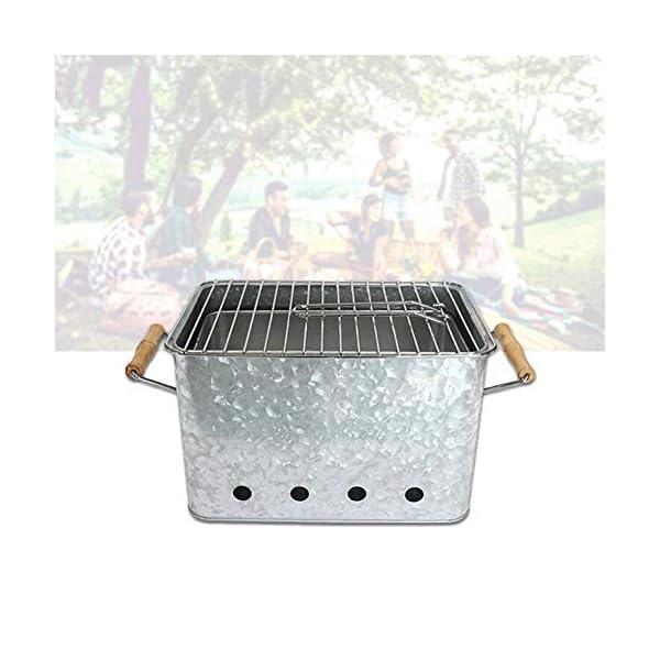 XB Barbecue Griglia a Carbone in Acciaio Inox Pieghevole Kit di Attrezzi per Barbecue con Borsa da Campeggio… 3 spesavip