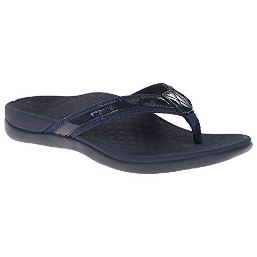 VIONIC - Sandalias de cuero para mujer negro negro azul - Blau-Lack