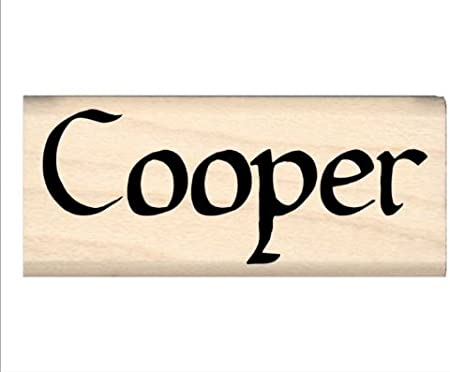 Cooper Name Rubber Stamp for Kids