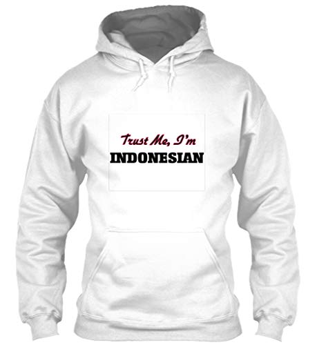Indonesian Blend - Trust me im Indonesian M - White Sweatshirt - Gildan 8oz Heavy Blend Hoodie