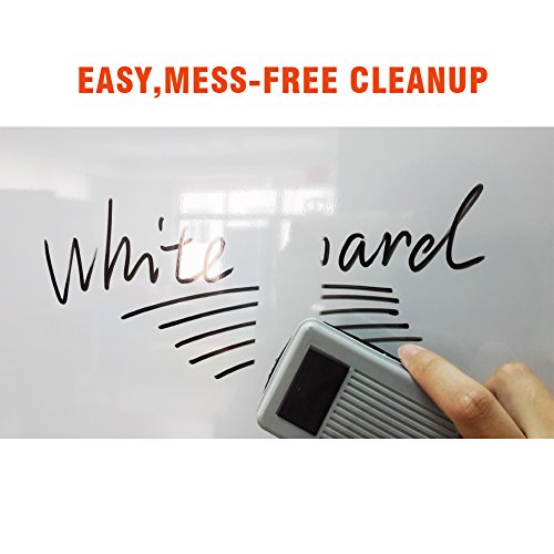 XIWODE Magnetic Easel-style Dry Erase Board, Flip Chart Red U-Stand Whiteboard, 36 x 24 Inch,Aluminum Framed, with Metal Clips and Eraser, Foldable White Board for School, Home, Office by XIWODE (Image #3)