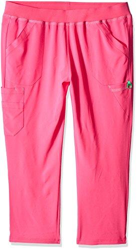 - Carhartt Women's Petite Plus Cross-Flex Size Straight Leg Knit Waist Cargo Scrub Pant, Azalea, 2X-Large