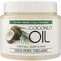 Extra Virgin Coconut Oil 100% Bio – Für Haut- und Körperpflege, Feuchtigkeitspflege für alle Hauttypen, reduziert Alterserscheinungen wie Fältchen und Augenringe, 500ml