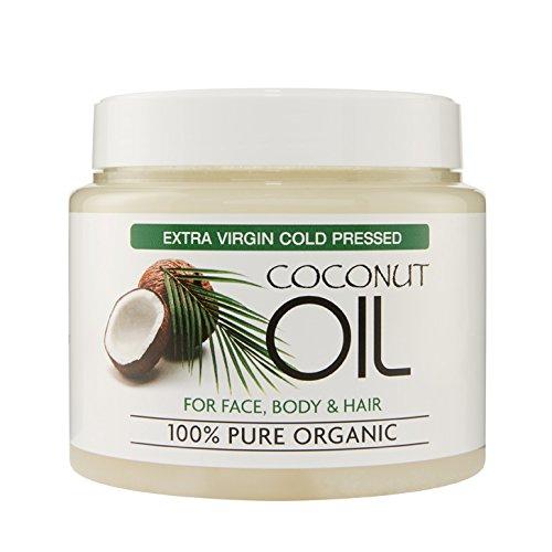 Aceite de coco extra virgen puro y orgánico al 100%. Para el piel y el cuerpo - Hidratante para todos los tipos de piel - Reduce los signos de la edad y la aparición de arrugas y ojeras - 500 ml