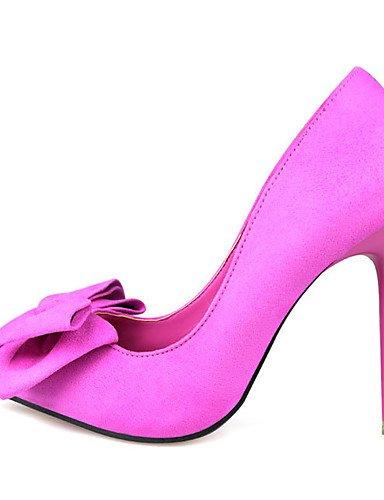 GGX/ Damen-High Heels-Hochzeit-Wildleder-Stöckelabsatz-Spitzschuh-Schwarz / Blau / Gelb / Rosa / Rot pink-us8 / eu39 / uk6 / cn39