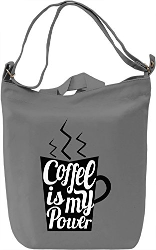 Coffee power Borsa Giornaliera Canvas Canvas Day Bag| 100% Premium Cotton Canvas| DTG Printing|