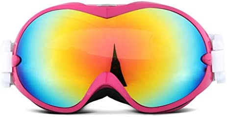 スキー用ゴーグル、成人用男女用スノーボードゴーグル - UV400保護および防曇 - 晴れや曇りの日に快適なダブルグレイの球面レンズスケートに最適なスノーモービル