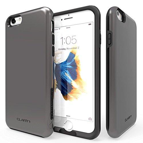iPhone 6S Case, Team Luxury Clarity Series [Version II] Gunmetal NEW Ultra Defender Protective Case for Both Apple iPhone 6 / 6S - Gunmetal/ Black