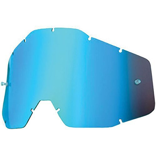 100% Racecraft/Accuri/Strata Vented Dual Replacement Lens (Blue Mirror) by 100%