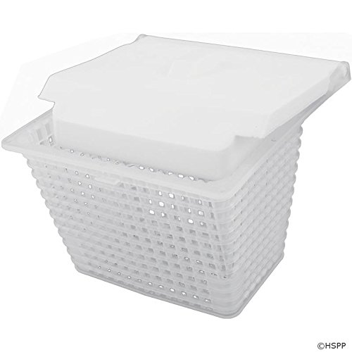 Jacuzzi 43-0785-00-R SV Series Pool Skimmer Basket with Weir - White - Jacuzzi Skimmer Basket