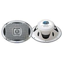 Lanzar Pyle 500W 6-Inch x 9-Inch 2-Way Marine Speakers AQ69CXS (Silver)