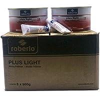 Massa Poliester Roberlo Plus Light Caixa C/8 Unidades 900 Gr