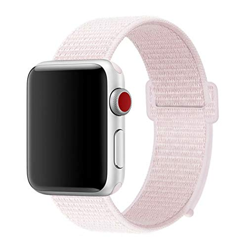 - YANCH Compatible with for Apple Watch Sport Loop Band, Lightweight Breathable Nylon Replacement Band Compatible with for iWatch Apple Watch Series 4/3/2/1, Sport, Edition, 42mm Pearl Pink