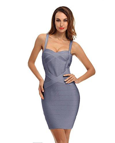 Whoinshop Damen Rayon Bodycon Kleider Minikleid Partykleid ...