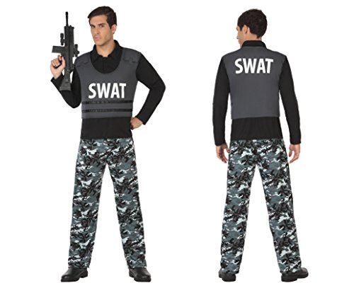 Atosa 31543-Police Swat Mens Costume, Size XS-30/32