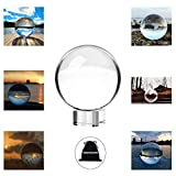 """URBANSEASONS Photograph Crystal Ball with Stand and Pouch, K9 Crystal Glass Ball with Pouch, Decorative and Photography Accessory (90mm/3.5"""" Set, K9 Clear)"""
