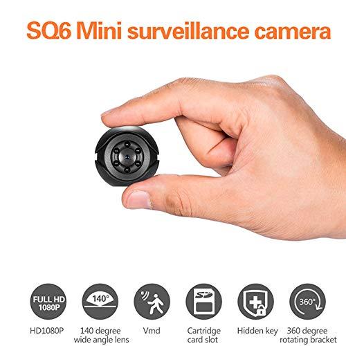 Ocamo - Mini cámara de vigilancia portátil HD 1080P CAM Gran ángulo visión Nocturna