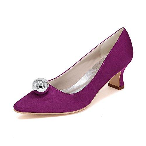 Los Señalaron Tamaño yc Variedad Alto Purple L Mujeres Colores Personalizado La Boda De 01f Cómodo Gran 0723 Zapatos Tacón qHFnCAxw