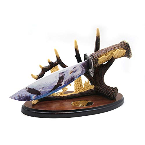 Dagger Eagle - Wild Turkey Handmade Collection Highly Detailed Display Dagger w/Stainless Blade and Display Stand (Eagle)