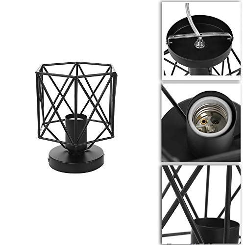Single Cylinder Rope Rose - NszzJixo9 Retro Pendant Lighting, Metal Cage Ceiling Light - Industry Vintage Home Pedant Lighting, Bulb Included Hotels Hallway Shops Cafe Bar Ceiling Light Fixtures