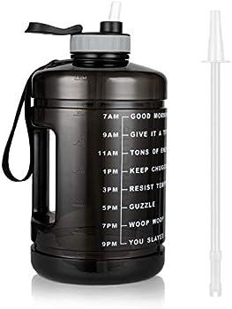 Vinsguir BPA Free Large 128oz Leakproof Fitness Sports Gallon Jug