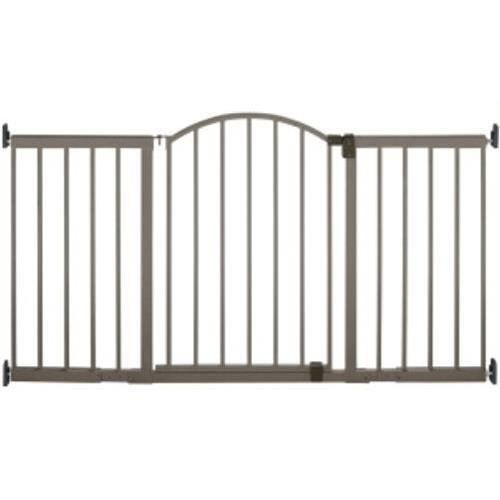 Metal Expansion Gate 6 Foot Wide Extra Tall Walk-Thru For Sale