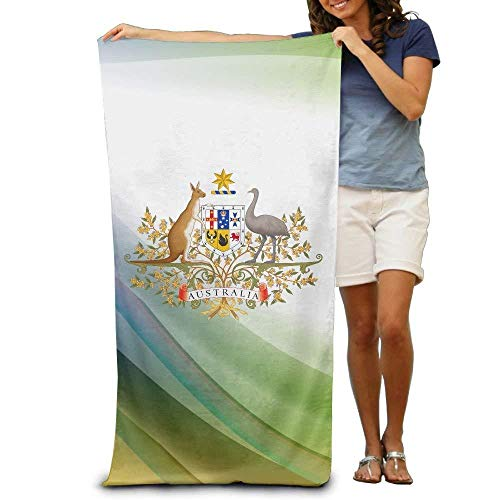 Australia Towel - Coat Of Arms Of Australia Adult Beach Towels Fast/Quick Dry Machine Washable Lightweight Absorbent Plush Multipurpose Use For Swim,Beach,Camping,Yoga