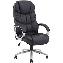BestOffice Ergonomic PU Leather High Back Executive Office Chair, Black