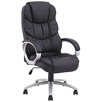 BestOffice Ergonomic PU Leather High Back Office Chair, Black