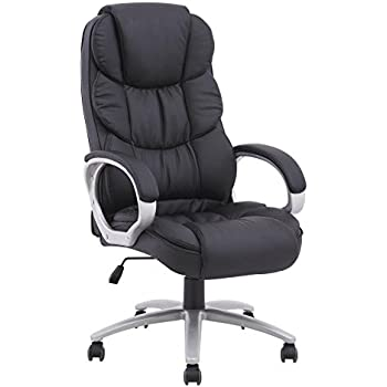 Superb BestOffice Ergonomic PU Leather High Back Office Chair, Black