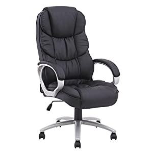 BestOffice Office Chair Desk Ergonomic Swivel Executive Adjustable Task Computer High Back Chair with Back Support in Home Office