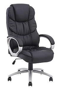 BestOffice Ergonomic PU Leather High Back Office Chair, Black