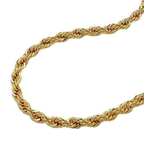 ASS 333 avec chaîne doré-cordon de serrage 6 mm pour bracelet de 19 cm en or jaune 333 8 carats