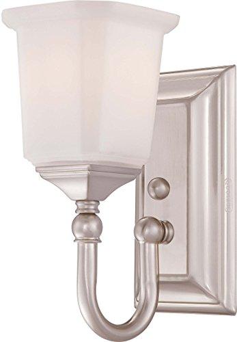 (Quoizel NL8601BN Nicholas Bath Wall Sconce Lighting, 1-Light, 100 Watt, Brushed Nickel (10