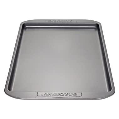 Farberware Nonstick Bakeware 11-Inch x 17-Inch Cookie Pan, Gray