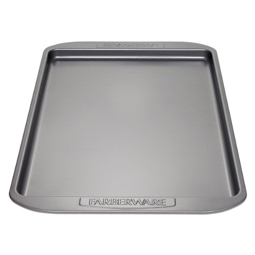 Farberware Nonstick Bakeware 11-Inch x 17-Inch Cookie Pan, Gray (Biscotti Pan)