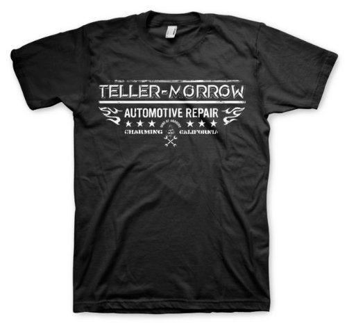 Sons of Anarchy Men's TellerMorrowAutomotive Repair T-Shirt Medium Black (Sons Of Anarchy Shirt)