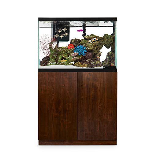 Imagitarium Faux Woodgrain Fish Tank Stand, Up to 40 Gal, 18.25 in, Natural Wood
