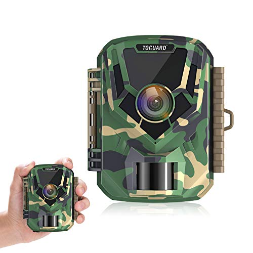 TOGUARD Mini Trail Camera FHD 1080P 12MP Game Camera 2″ LCD Screen Small Hunting Trap Camera with IR Night Vision 120° Wide Angle Waterproof Video Camera for Wildlife Monitoring and Home Observation