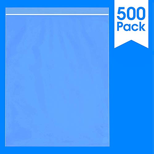 "Spartan Industrial || 500 Count - 10 X 13"" - 2 Mil Clear Plastic Reclosable Zip Poly Bags with Resealable Lock Seal Zipper (More Sizes Available)"