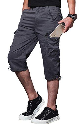 - MAKEIIT Men's 38 Cargo Shorts Capri Cargo Shorts Belted Cargo Shorts with Multi-Pocket