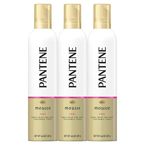 Pantene, Curl Mousse, Tame frizz for Soft Touchable Curls, Pro-V, For Curly Hair, 6.6 fl oz, Triple - Curl Best Mousse