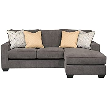 Ashley Hodan 7970018 93-Inch Sofa Chaise with Pillows Included Loose Seat Cushions and Track  sc 1 st  Amazon.com : ashley sofa chaise - Sectionals, Sofas & Couches
