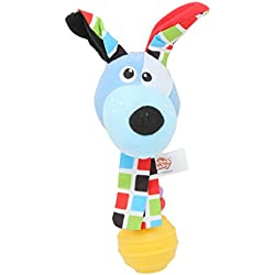 Iumer Baby Rattle Animal Bells Toys Plush Toy For Christmas Gift Blue Dog