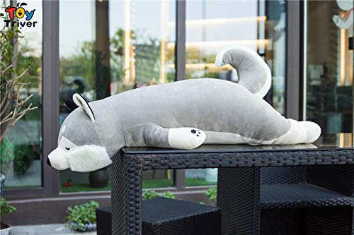 WATOP Stuffed Animals - Teddy Bears | Plush Simulation Husky Dog Toy Stuffed Animal Doll Puppy pet Pillow Cushion Kids Baby Birthday Gift Present Home Shop Decoration (-95cm)
