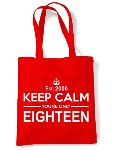 Eighteen Keep Shoulder Birthday 18th Bag Calm Only Your Red Tote Bwq6t
