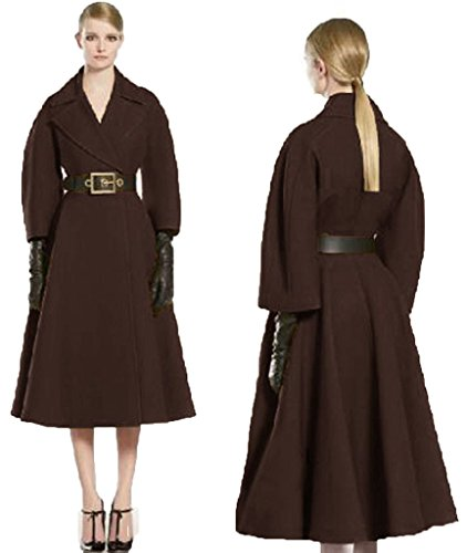 Angel&Lily Vintage Style Long-Sleeved Elegant Slim Coat plus size 7x Brown by Angel&Lily