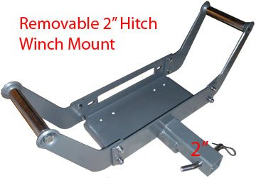 "Removable Portable 2"" Hitch Receiver Cradle Winch Mount *..."